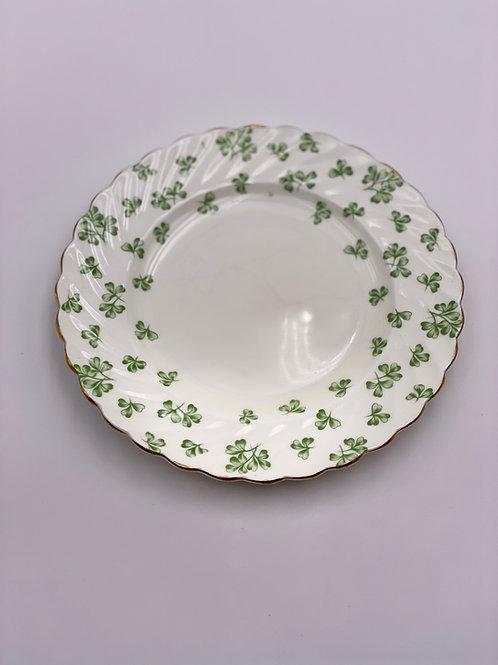 Vintage Aynsley 'Shamrock' Green Salad Plate
