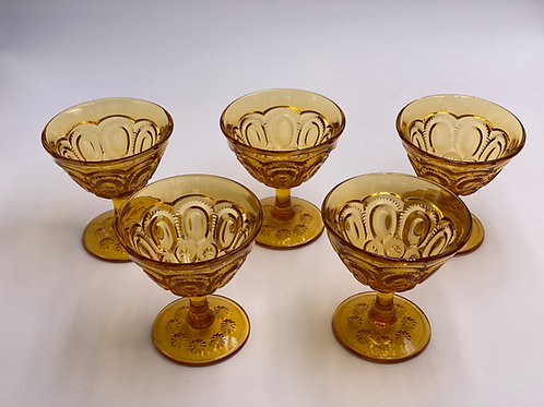 Vintage 'Moon & Stars' Amber Champagne Coupe