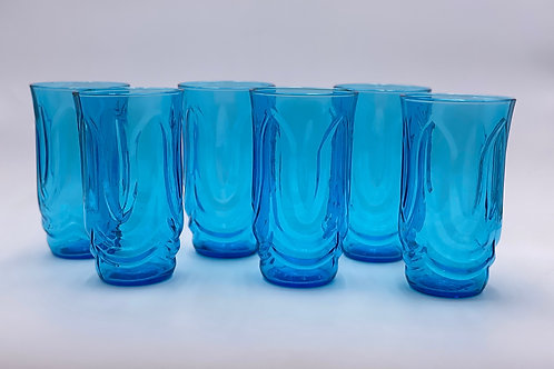 Vintage 'Colonial Tulip' Tumbler in 'Laser Blue'