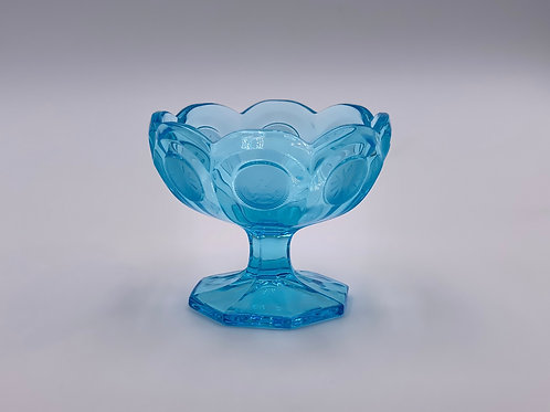 Vintage 'Fostoria Coin' Candy Dish in Light Blue