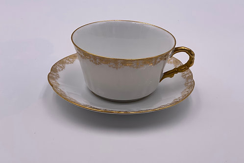 Vintage 'D & Co.' L. Bernardaud Teacup & Saucer