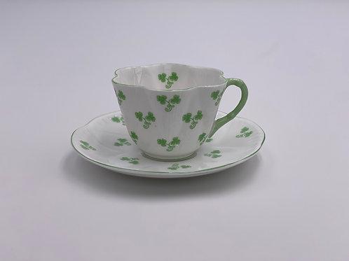Vintage Shelley 'Shamrock' Teacup & Saucer