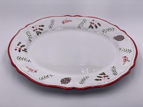 'Cardinal' Oval Scalloped Platter
