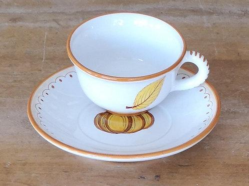 'Pumpkin' Teacup & Saucer