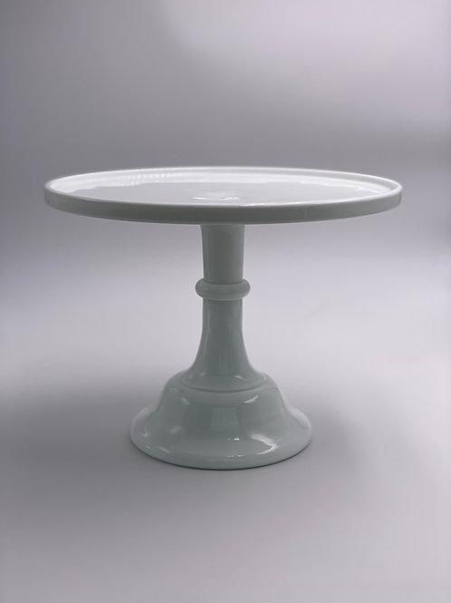 "Mosser Glass 10"" Cake Stand in 'Milk White'"