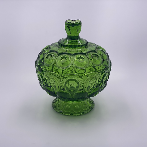Vintage 'Moon & Stars' Apothecary Jar in 'Green'