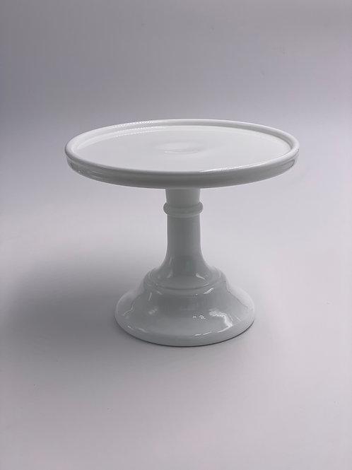 "Mosser Glass 6"" Cake Stand in 'Milk White'"