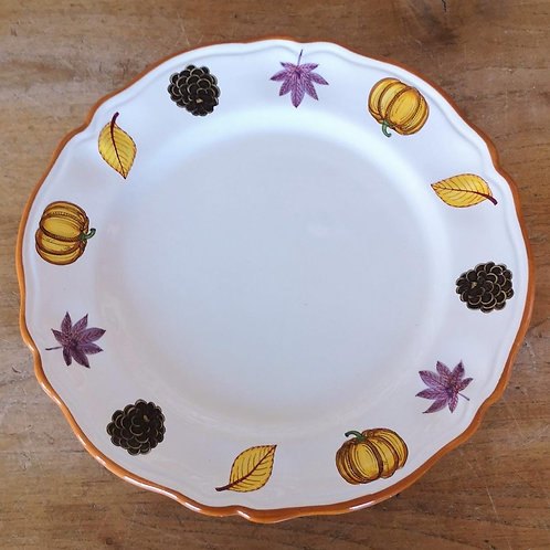 'Pumpkin' Charger/Round Scalloped Platter