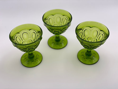 Vintage 'Moon & Stars' Green Champagne Coupe