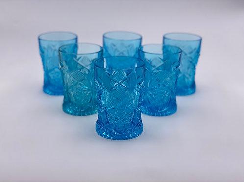 Vintage Glass Tumblers in 'Aqua'