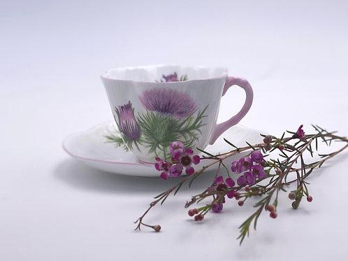 Vintage Shelley 'Thistle' Teacup & Saucer