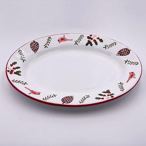 'Cardinal' Oval Plate (Individual)