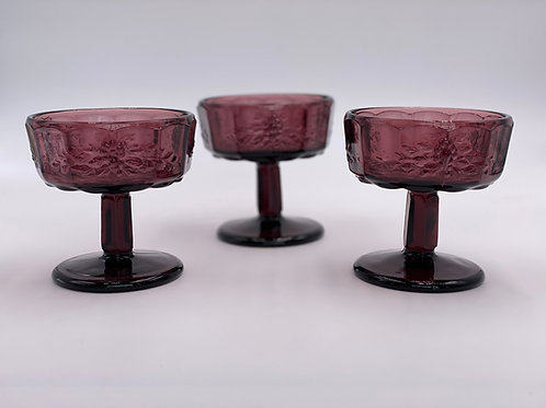 Vintage 'Panel Grape' Champagne Coupe in Amethyst