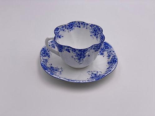 Vintage Shelley 'Dainty Blue' Teacup & Saucer