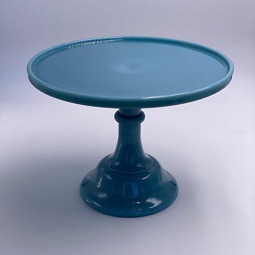 """Mosser Glass 10"""" Cake Stand in Georgia Blue"""