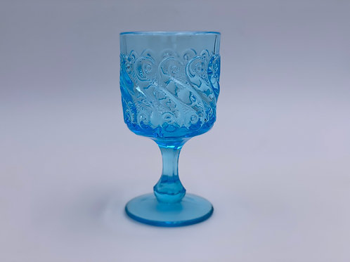 Vintage 'S' Light Blue Goblet