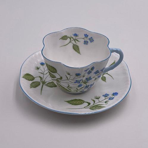 Vintage Shelley 'American Brooklime' Teacup & Saucer