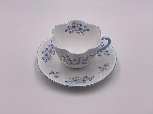 Vintage Shelley 'Blue Rock' Teacup & Saucer