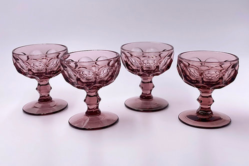 Vintage 'Provincial' Champagne Coupe in 'Amethyst'