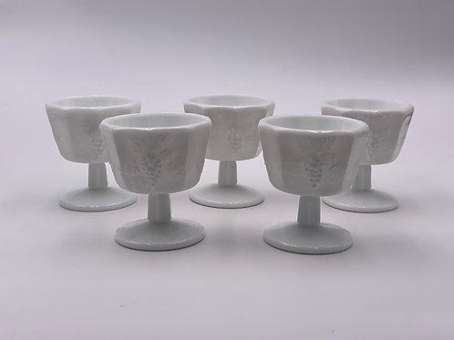 Vintage 'Paneled Grape' Parfait Cup in 'Milk Glass'