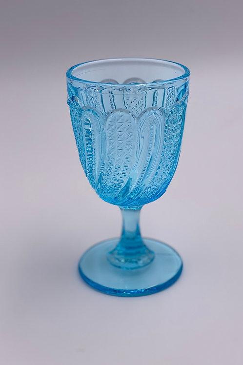 Vintage 'Princess Feather' Light Blue Goblet