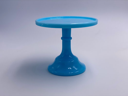 """Mosser Glass 6"""" Cake Stand in 'Robins Egg Blue'"""