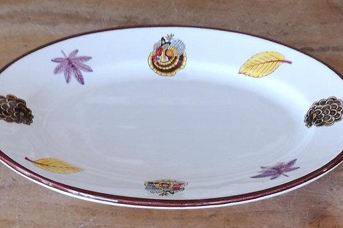 'Turkey' Oval Plate (Individual)
