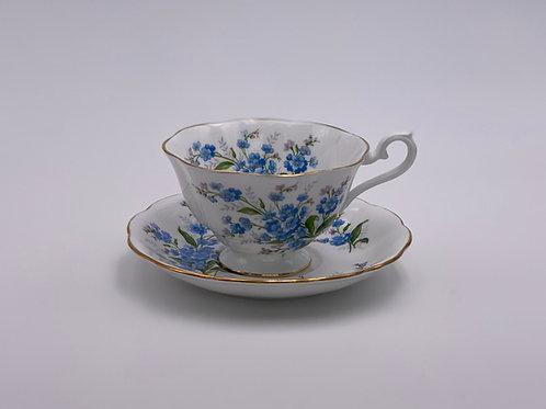 Vintage Royal Albert 'Forget-Me-Not' Teacup & Saucer