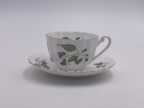 Vintage Shelley 'Campanula' Teacup & Saucer