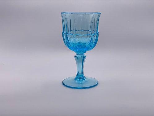 Vintage 'Red Cliff' Depression Glass Goblet in Light Blue