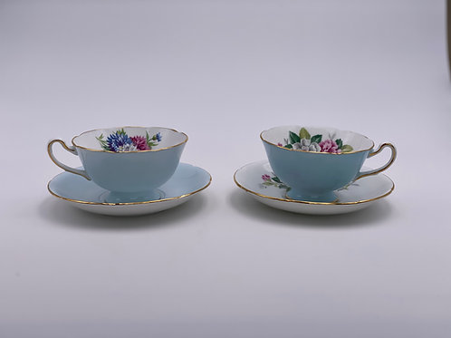 Vintage 'Royal Grafton' Teacup Duo