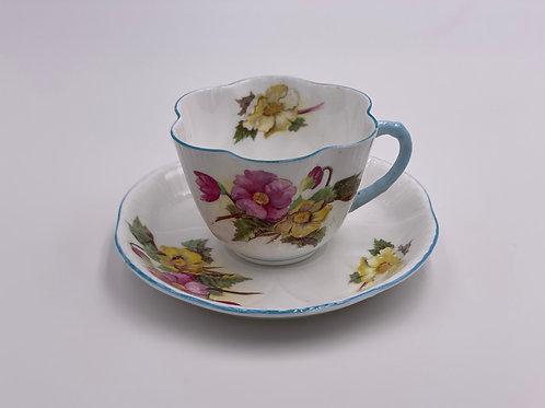 Vintage Shelley 'Begonia' Teacup & Saucer