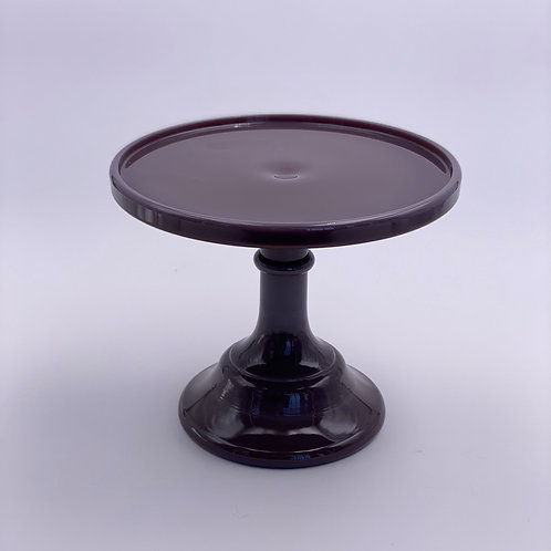 """Mosser Glass 6"""" Cake Stand in 'Eggplant'"""