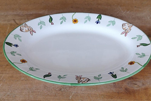 Boxed Set of (4) 'Bunny' Oval Plates