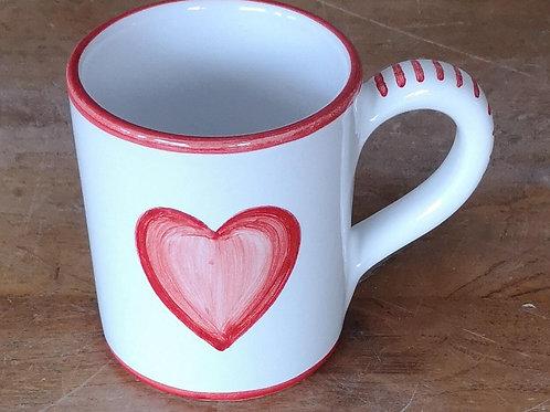 Boxed Set of (4) 'Heart' Mugs