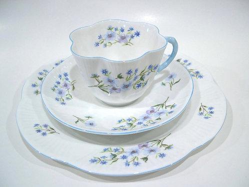 Vintage Shelley 'Blue Rock' Luncheon Set (3 pieces)