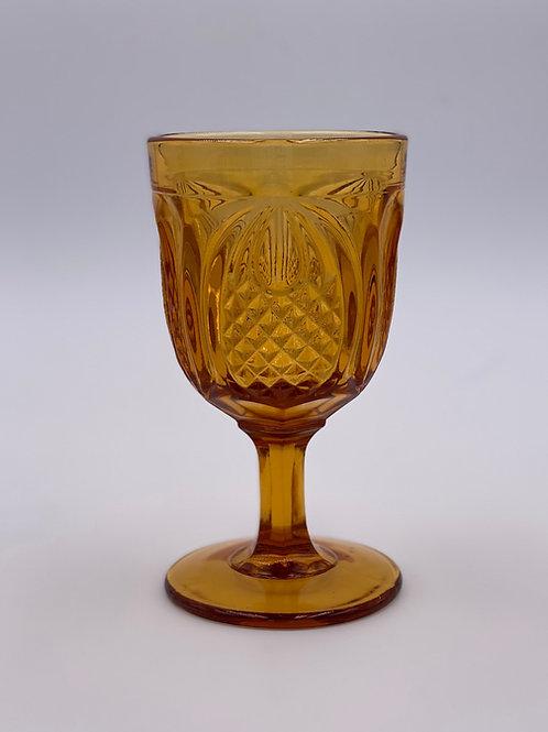 Vintage 'Fenton' Pineapple Goblet in 'Amber'