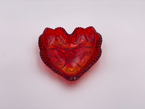 Vintage Heart Candy Dish