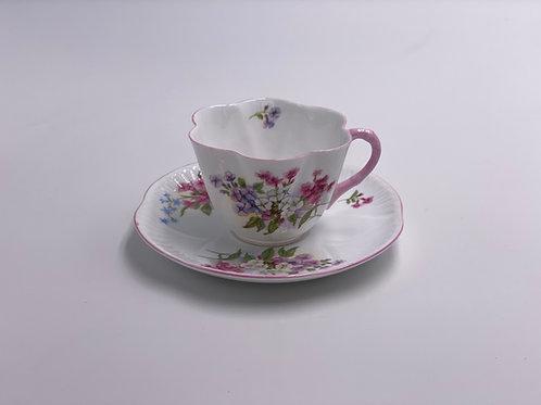 Vintage Shelley 'Stocks' Teacup & Saucer