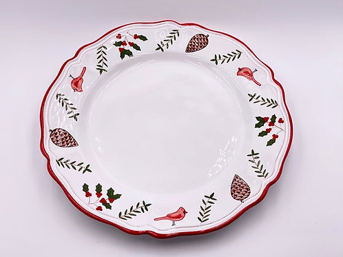'Cardinal'  Charger/Round Scalloped Platter