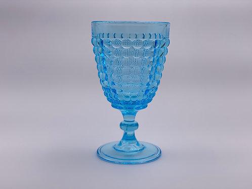 Vintage 'Thousand Eye' Light Blue Goblet