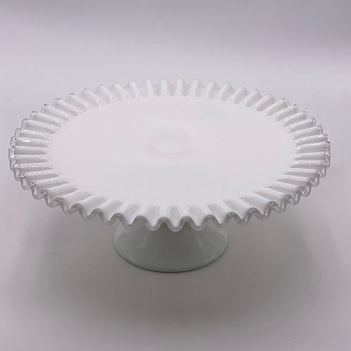 Vintage 'Silver Crest' Cake Stand in 'Milk White'