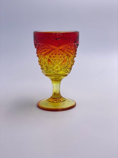 Vintage 'Fenton Glass' Amberina Goblet