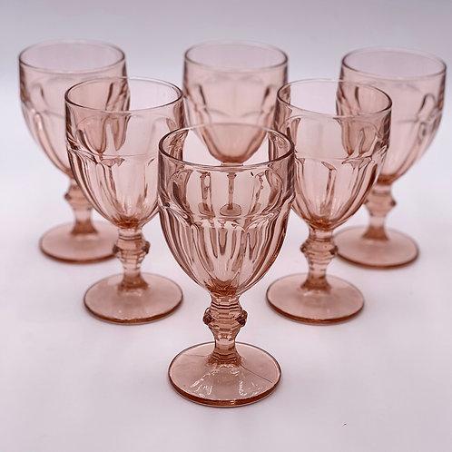 Vintage Libbey 'Gibraltar' Goblet in 'Pink'