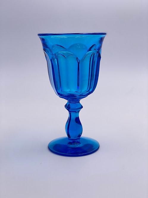 Vintage 'Old Williamsburg' Antique Blue Goblet
