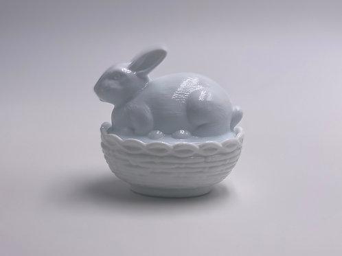 Mosser Glass 'Milk White' Bunny Candy Dish