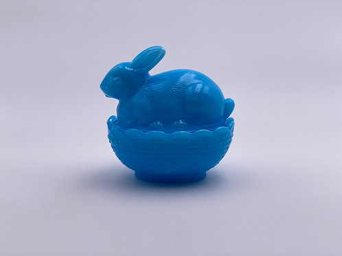 Mosser Glass 'Robins Egg Blue' Bunny Candy Dish