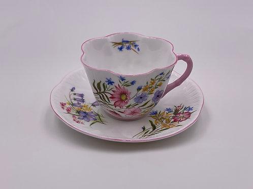 Vintage Shelley 'Wild Flowers' Teacup & Saucer