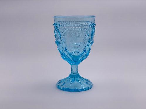 Vintage 'Sweetheart ' Light Blue Goblet