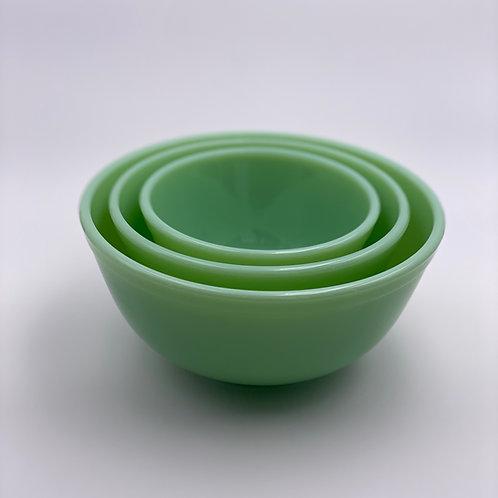 Mosser Glass Mixing Bowl Set in 'Jadeite'